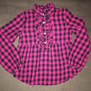 Chaps toddler plaid top